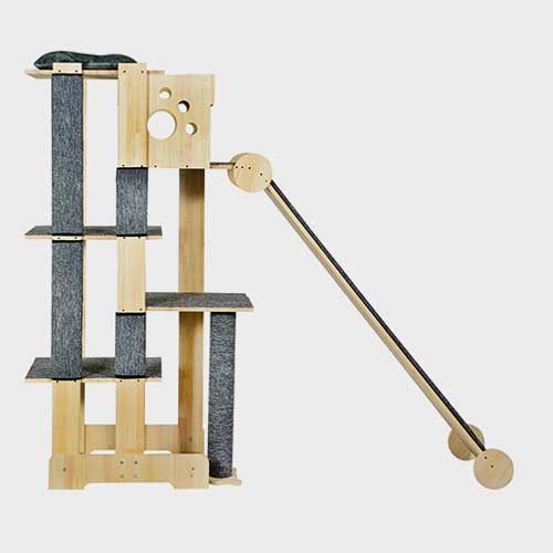 Pet Cat Furniture, big cat tree wood 06-0191