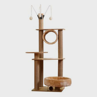 Pet, Cat, Cat House Material MDF Brown Large Pet Towers Tree